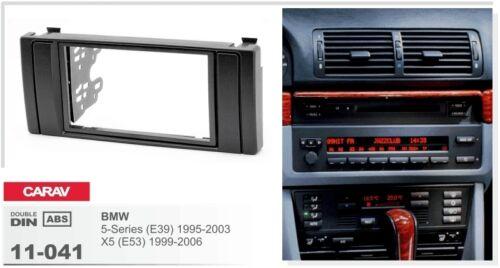 CARAV 11-041 2DIN Car Radio Dash Kit panel for BMW 5 E39 1995-03 X5 E53 1999-06