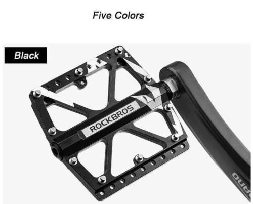 ROCKBROS Bike Pedals Bicycle Flat//Platform Pedals For MTB DH BMX Three Bearing