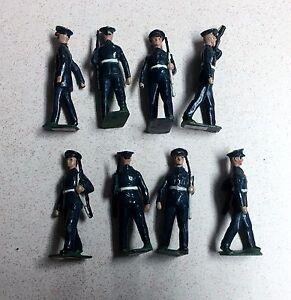 W. Britains US Air Coprs 1949 Pat. Blue Uniform 8 54mm Figurs 2044