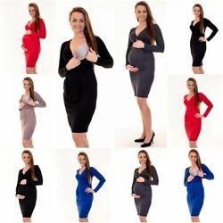 Umstandsmode Umstandskleid Schwangerschaftskleid Stillkleid Stillshirt D11