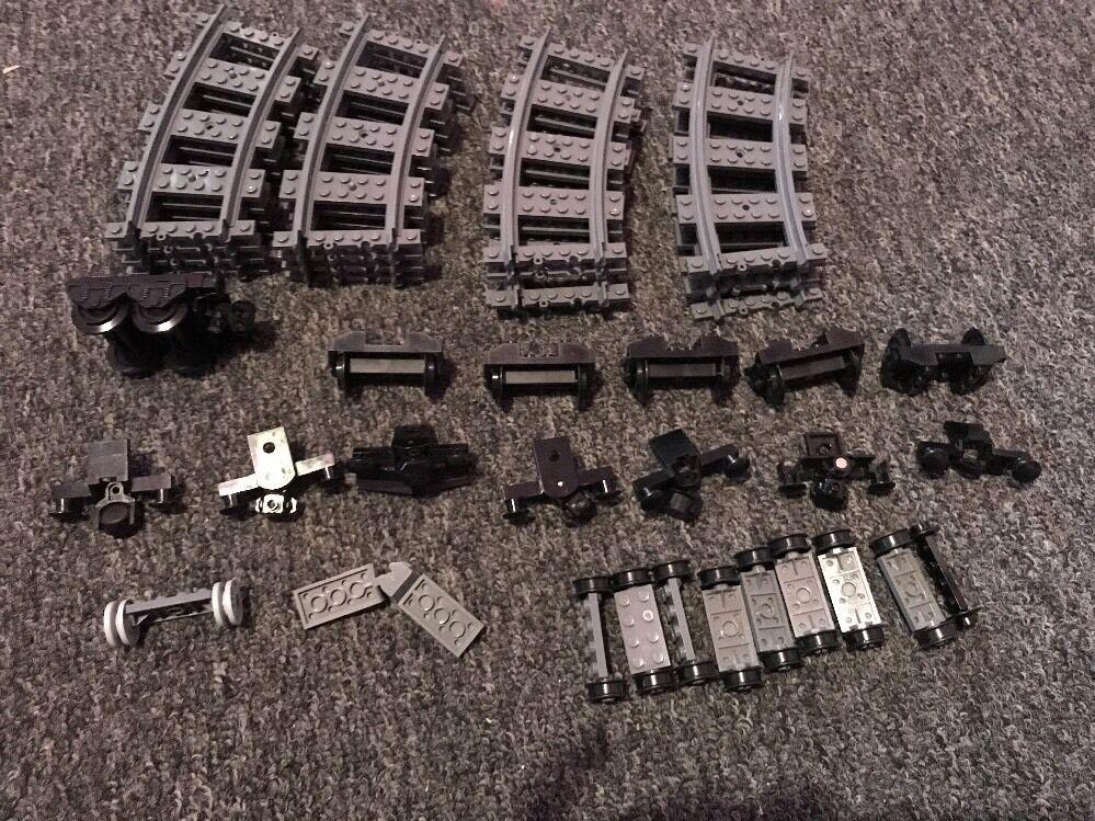 Enorme Lote de pista de Tren De Lego Original. Lote de 16 curvas y ruedas