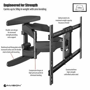 Invision-Ultra-Strong-TV-Wall-Bracket-Mount-Fit-37-to-70inch-TV-Incl-HDMI-Cable
