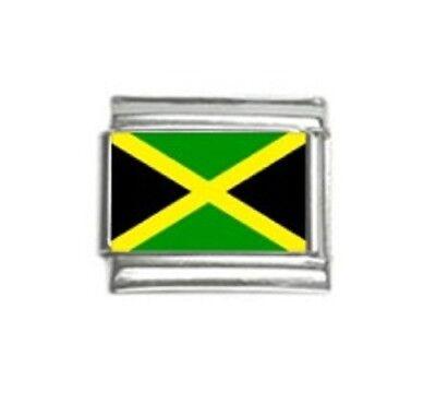 Jamaican Flag Custom Italian Charm Jamaica