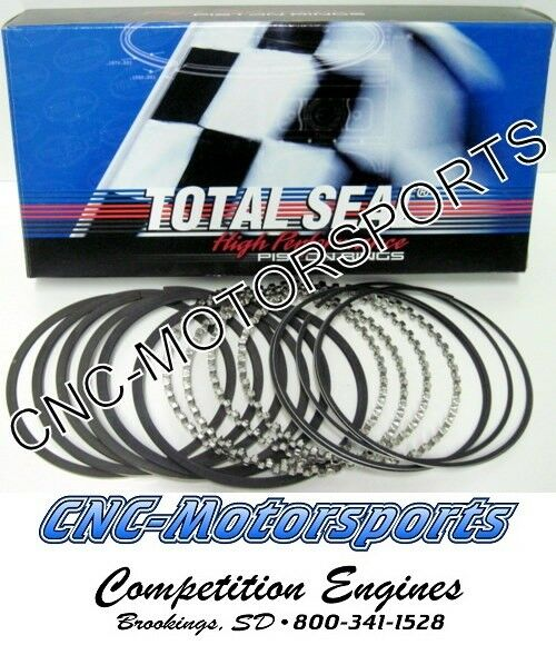 "Total Seal Piston Ring Set CR3690-35; Classic Race Plasma Moly 4.030/"" File Fit"