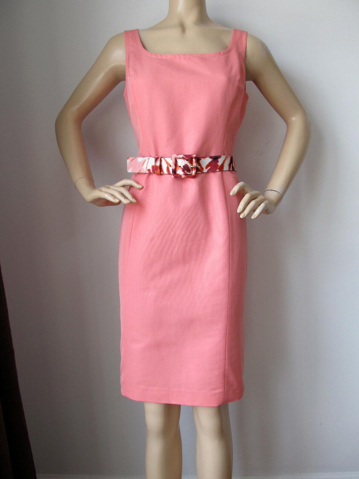 Nuevo ST JOHN Tejido Vestido Tubo De Mujer  Talla 4 Sandía Naranja Durazno De Algodón  tomamos a los clientes como nuestro dios