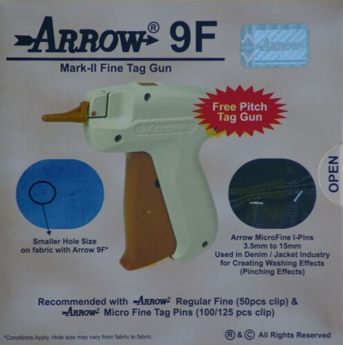 Arrow FINE Needle Tag Gun 2000 Black Barbs 50mm Clothing Price Tagging Attacher