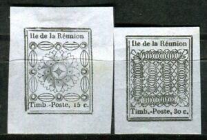 REUNION-1852-NACHDRUCK-zu-Nr-1-2-ungummiert-F4002