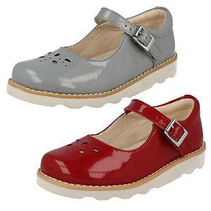 CLARKS-POUR-FILLES-nourrisson-boucle-cuir-babies-BARRE-fete-Chaussures-vernies