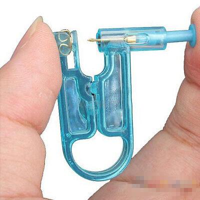 Schmerzlos Einweg Ohrstecker Piercing Gun Ohrloch Pistole Blau & Ohrstecker