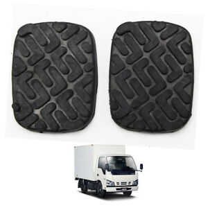 Pedal Pad Rubber Brake Clutch Black 2 Pc For Isuzu Nkr Npr Truck