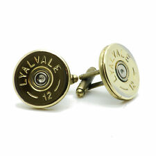SLIM Shotgun Shell Cartridge Cap Cufflinks Clay Game Shooting Steampunk Birthday