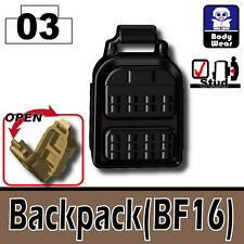 Backpack BF16 (W10)Army Tactical Equipment compatible with toy brick minifigures