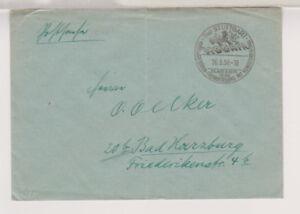 BUND-Postsache-SST-Stuttgart-HOGAFA-26-8-50-Faltbug