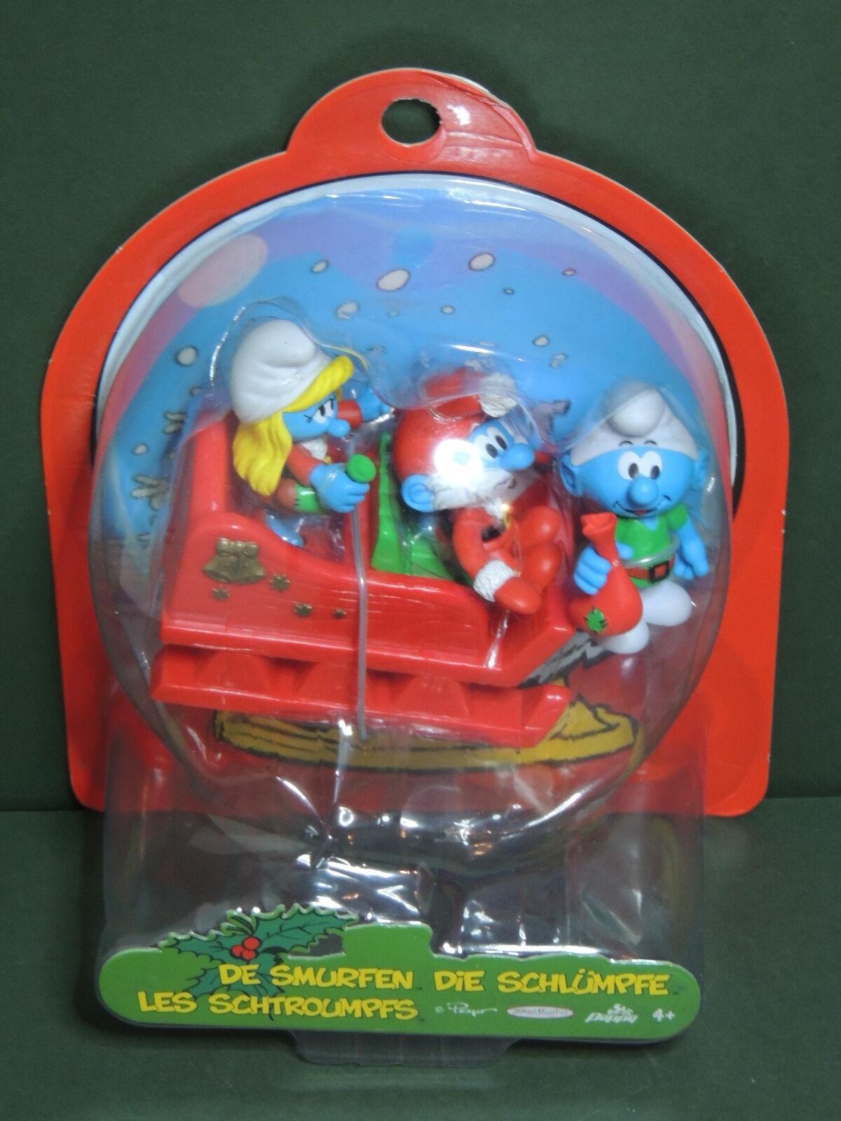 Schtroumpf figurine + traineau de noël Christmas Christmas Christmas smurf set figure Jakks Pacific f2d10a