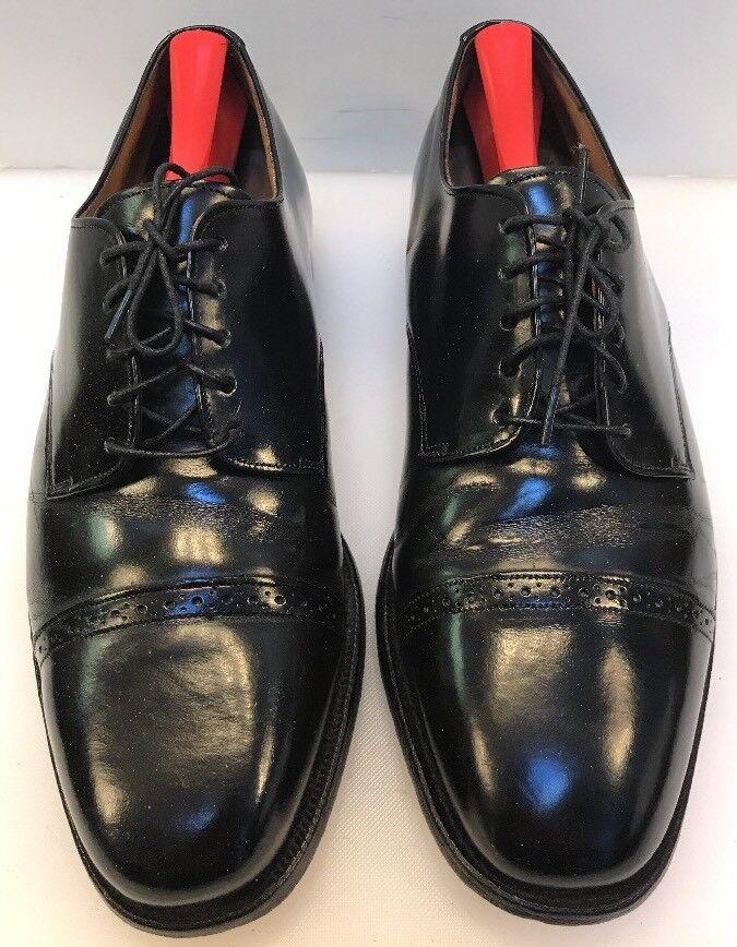 Johnston & Murphy Men 9 D   B Cap Toe Oxfords Black Leather Optima 22-2851