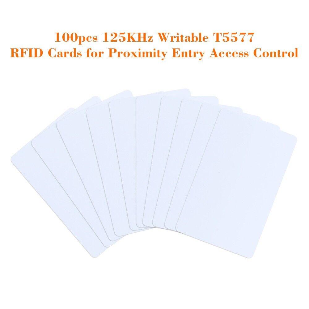 100 un. 125KHz RFID Tarjetas T5577 que se pueden escribir puerta de entrada de control de acceso