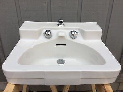 White Vintage Crane Drexel 1950s 60s Porcelain Sink