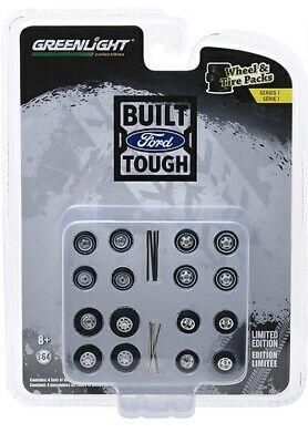 Greenlight 16010C 1//64 Reyes de Crunch Jeep Camiones Rueda /& Pack De Neumáticos