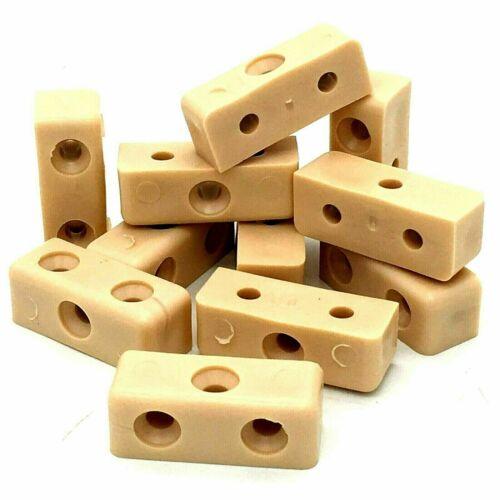 48 x MODESTY BLOCKS beige furniture cabinet connector fixit block joiner 117