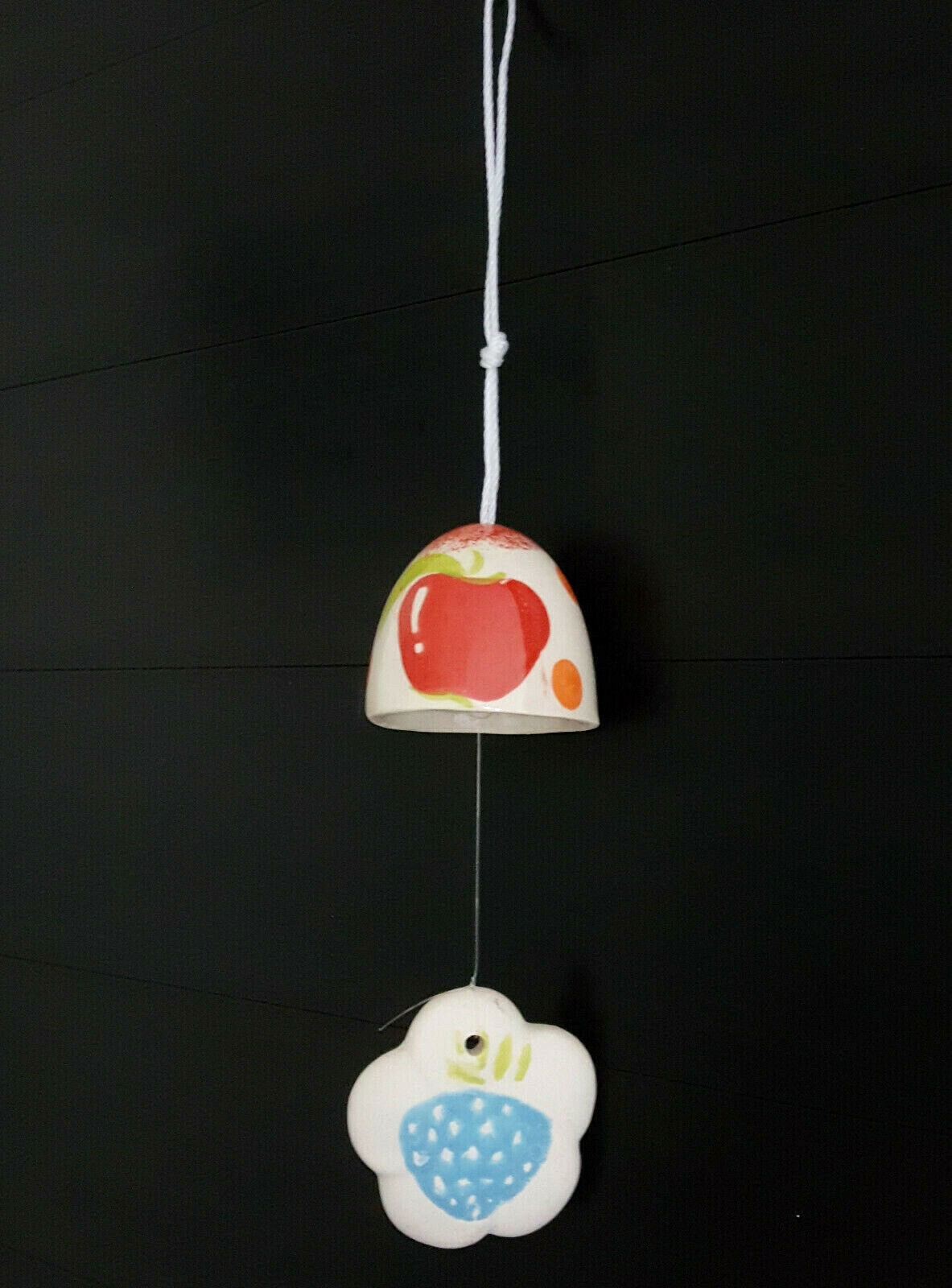 Fine Apple Bell Wind Chime Garden Lawn Decor Musical Hanging Cloud Ceramic Small