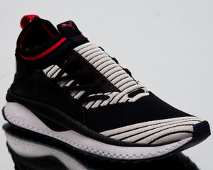 Details about Puma TSUGI Jun Sport Stripes Men New Black Gray Red Lifestyle Sneakers 367519 04