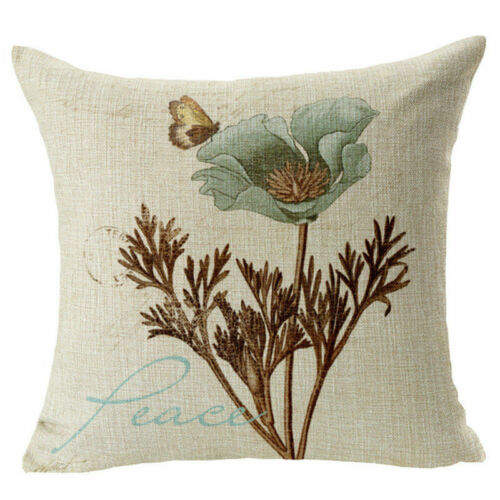 250 Style Cotton Linen Home Decor Pillow Case Sofa Waist Throw Cushion Cover