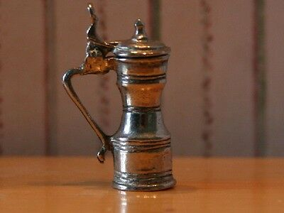 Tappit Hen Tankard Dolls House Miniature Kitchen table accessory Pewter 1.12th