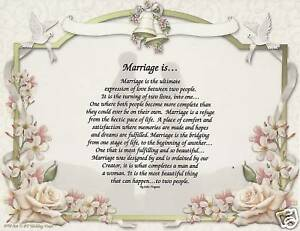 Details About Marriage Poem Wedding Vows Art Print Personalized Name Love Forever