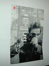 plaquette publicitaire  LEICA M6 TTL 0.58  photo photographie en FRANCAIS
