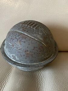 Antique-Chocolate-Mould-Football-Soccer-Ball-Plated-Metal-1920s-1930s-Vintage
