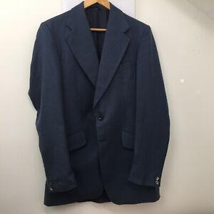 CARL'S en coton bleu double évent Blazer Jacket Homme Taille Uk 40 Eur 50