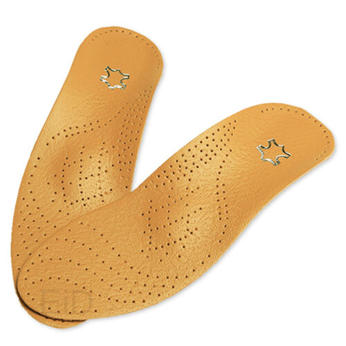 Support Orthopedic Pain Relief Shoes Pads Leather Latex Insole Foot Health Care