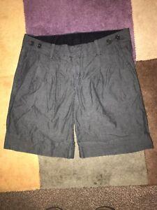 Gap-Dark-Grey-Womens-Smart-Tailored-Shorts-2-6-8-XS