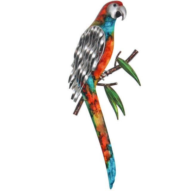 Parrot Lorikeet Metal Wall Art Bird Iron Hanging Sculpture 42cm ...