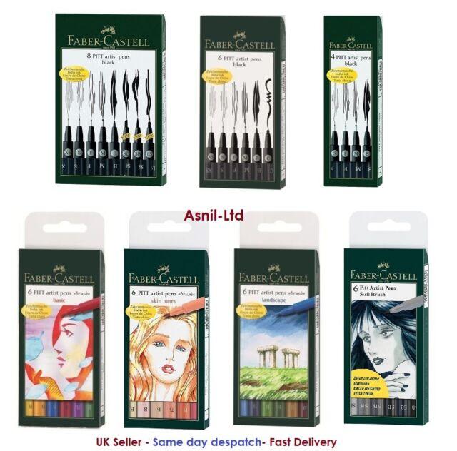 Faber-Castell Marker 4 Artist Pen Black /& White Set