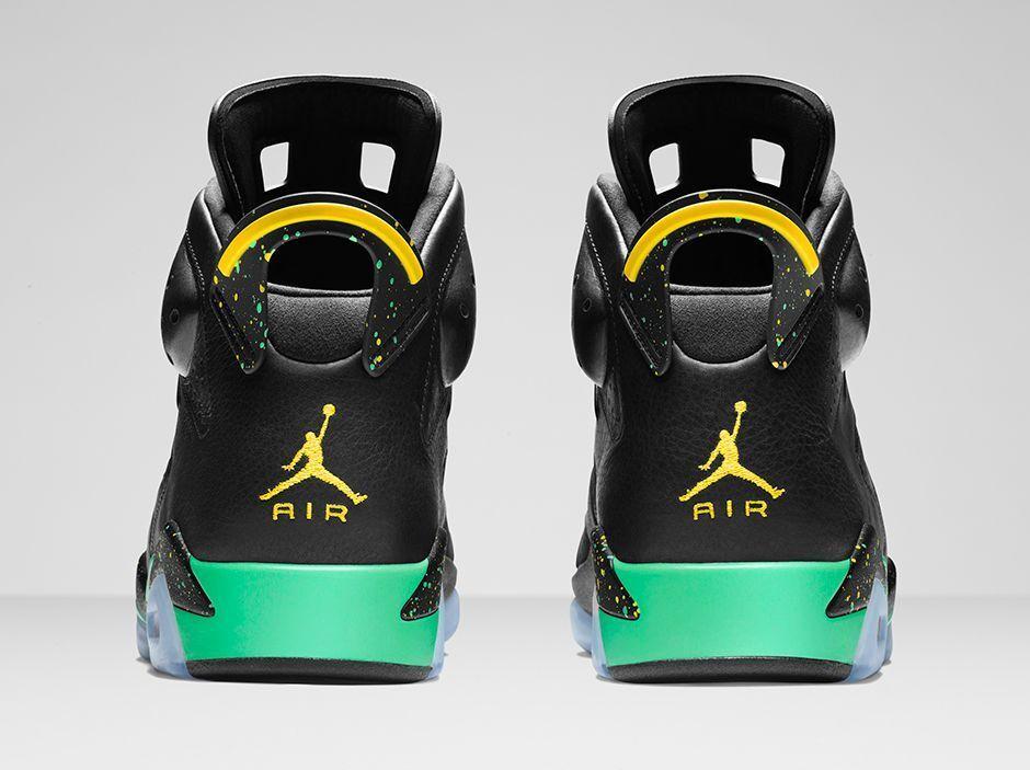 Nike Air Jordan 6 VI Retro Brazil Size 13.5. 688447-920 1 2 3 4 5 7