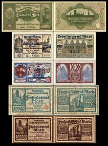 1-000-50-000-Mark-Stadtgemeinde-Danzig-Ausgabe-1923-Reproduktion
