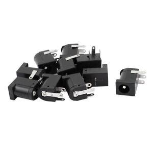 10pcs-3-Pin-PCB-Mount-55x21mm-Female-DC-Power-Jack-Socket-Connector