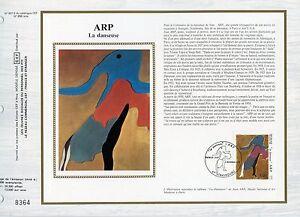 FEUILLET-CEF-DOCUMENT-PHILATELIQUE-TABLEAU-ARP-LA-DANSEUSE-1986-STRASBOURG