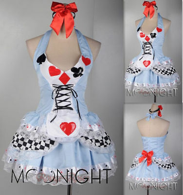 Plus Size XS-4XL Sexy Alice In Wonderland Adult Halloween Costume Fancy Dress