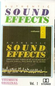 Various-Authentic-Sound-Effects-Volume-1-Import-Cassette-Tape