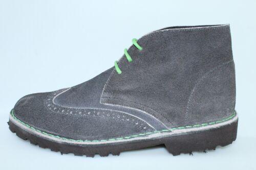 scarpe uomo ANTICA CUOIERIA 41 stivaletti grigio camoscio DS788