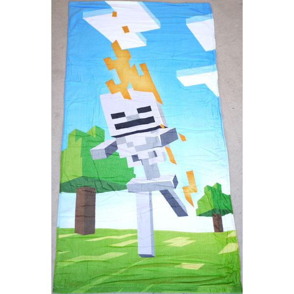 100% Cotton Kids Children Boys Minecraft Bath Beach Pool Towel 70x140cm