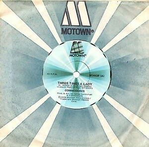 COMMODORES-THREE-TIMES-A-LADY-7-034-45-VINYL-RECORD-1978