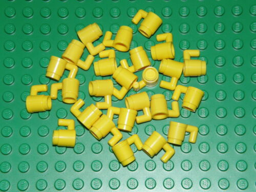 LEGO 25 x YELLOW CUP 3899 ACCESSORIES FOR MINI PEOPLE MINIFIGURES