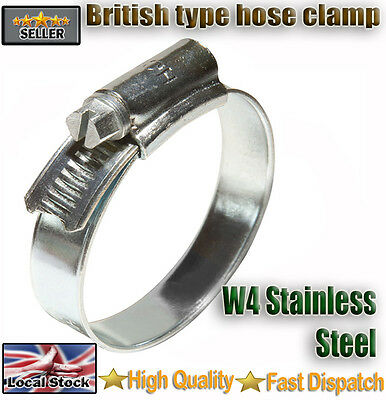 Stainless Steel Hose Clips Pipe Clamps - Multi  Size - 316ss - Jubilee Type