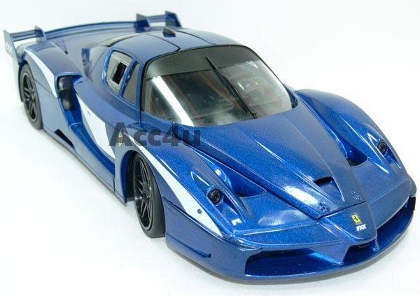 Hot Wheels Ferrari Azul Fxx Evoluzione 1 18 Diecast Model Coche