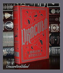 New-Dracula-by-Bram-Stoker-Horror-Soft-Leather-Bound-Deluxe-Collectible-Classic