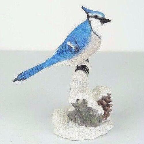 "Collectible Figurine Miniature 4.75/""H New Blue Jay Bird"