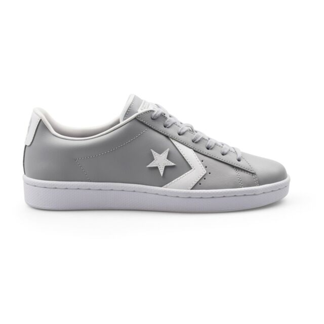 9ff4d1004766 Converse PL-76 John Harvard Pro Leather Ox Grey Mens Trainers New 158089C